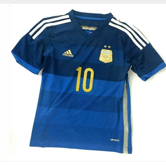uk availability 74ab6 fe4d1 ADIDAS Youth Size M Argentina #10 Messi Jersey